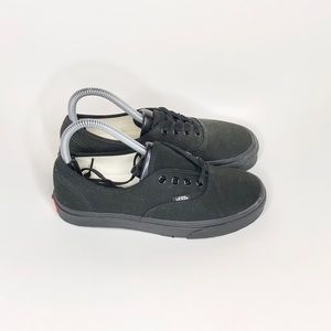Vans all black authentic low top women's 6.5